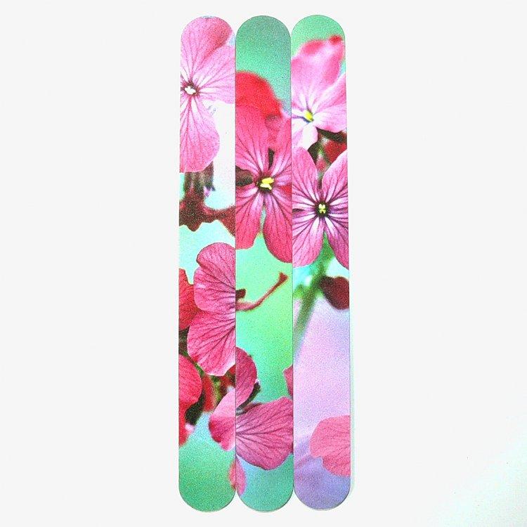 Pilník na nehty 240/240 flowers | Leštičky, leštící bloky a pilníky na nehty pro nehtovou modeláž a manikúru - Pilníky na nehty pro nehtovou modeláž a manikúru - rovné