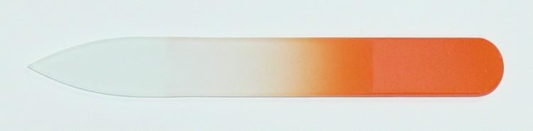 Skleněný barevný pilník 90/2 mm barva oranžová | NEHTOVÁ MODELÁŽ - Leštičky, leštící bloky a pilníky na nehty pro nehtovou modeláž a manikúru - Skleněné a barevné pilníky na manikúru - Pilníky 9 cm