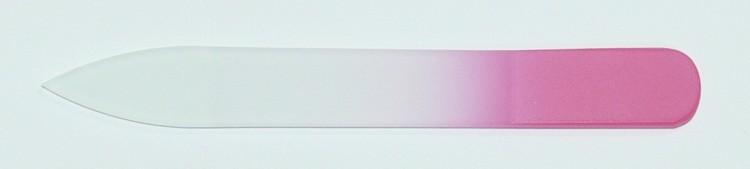 Skleněný barevný pilník 90/2 mm barva růžová | NEHTOVÁ MODELÁŽ - Leštičky, leštící bloky a pilníky na nehty pro nehtovou modeláž a manikúru - Skleněné a barevné pilníky na manikúru - Pilníky 9 cm