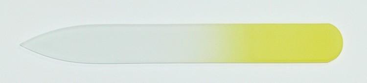 Skleněný barevný pilník 90/2 mm barva žlutá   NEHTOVÁ MODELÁŽ - Leštičky, leštící bloky a pilníky na nehty pro nehtovou modeláž a manikúru - Skleněné a barevné pilníky na manikúru - Pilníky 9 cm