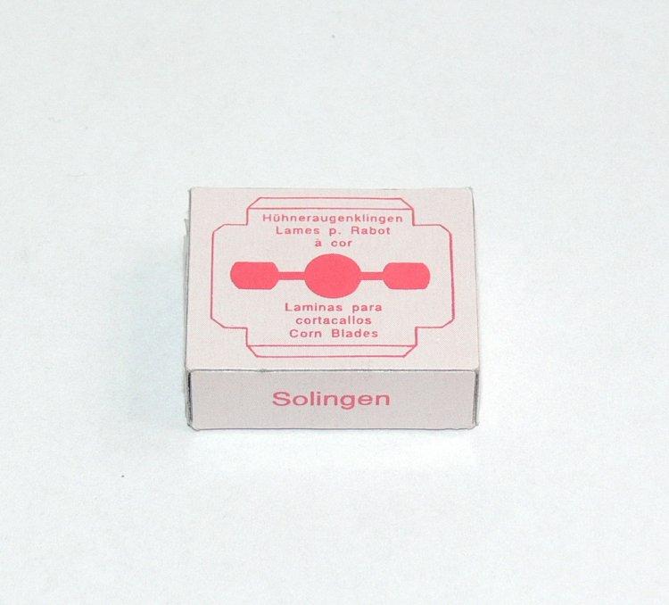 Solingen žiletky k seřezávači ztvrdlé kůže na patách 10 ks | Kleště a nůžky na nehty a kůži pro manikúru a pedikúru, pinzety, pilníky, atd. - Ostatní nástroje a příslušenství pro pedikúru