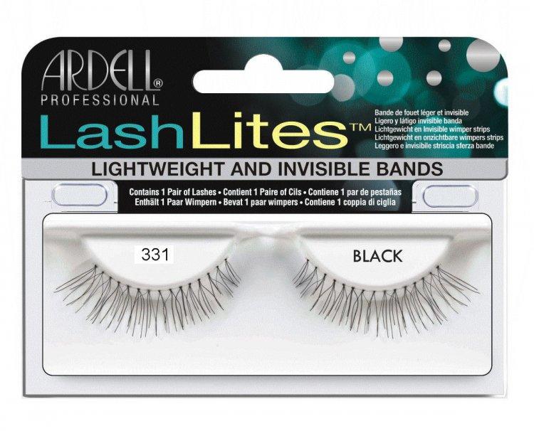 Nalepovací řasy Ardell Lash Lites Lashes 331 black | NEHTOVÁ MODELÁŽ - Umělé řasy a trsy - Nalepovací řasy Ardell