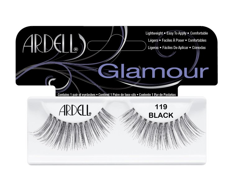 Nalepovací řasy Ardell Glamour Lashes 119 black | NEHTOVÁ MODELÁŽ - Umělé řasy a trsy - Nalepovací řasy Ardell