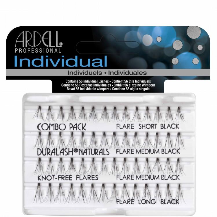 Sada trsových řas Ardell Knot Free Combo Pack Black | NEHTOVÁ MODELÁŽ - Umělé řasy a trsy - Řasy trsové Ardell