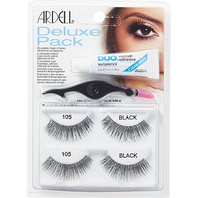 Nalepovací řasy Ardell DeLuxe Pack 105 black | Umělé řasy a trsy - Sady nalepovacích řas Ardell