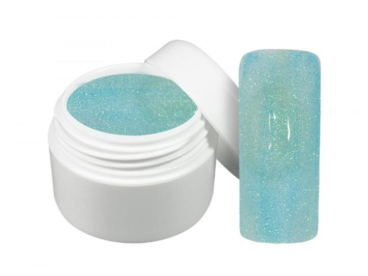 UV gel barevný neon glitter modrý 5 ml | Barevné UV gely - Neonové a pastelové barevné UV gely
