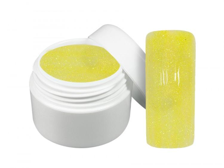 UV gel barevný neon glitter žlutý 5 ml | Barevné UV gely - Neonové a pastelové barevné UV gely