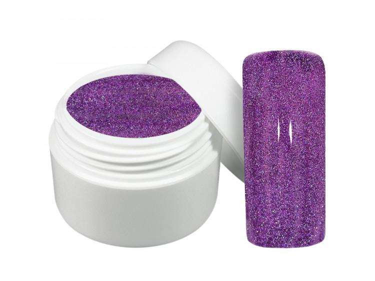 UV gel barevný neon glitter fialový 5 ml | Barevné UV gely - Neonové a pastelové barevné UV gely