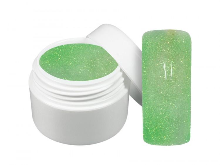 UV gel barevný neon glitter zelený 5 ml | Barevné UV gely - Neonové a pastelové barevné UV gely