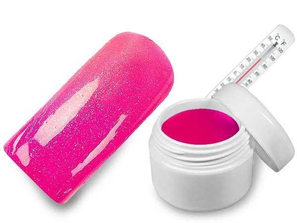 WZ nails Hot - cold UV gel magenta-růžová metalická 5 ml  | NEHTOVÁ MODELÁŽ - Barevné UV gely - Hot & Cold UV gely