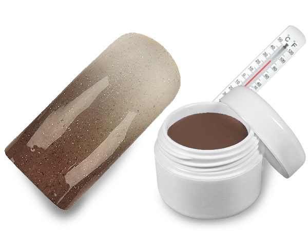 WZ nails Hot - cold UV gel tělová-bílá metalická 5 ml  | NEHTOVÁ MODELÁŽ - Barevné UV gely - Hot & Cold UV gely