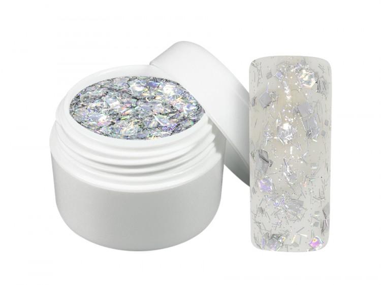 UV gel barevný crisp stříbrný 5 ml | Barevné UV gely - Flitrové barevné UV gely