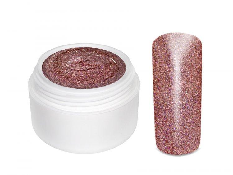 UV gel barevný Extrem GlimmerDarksalmon 5 ml | NEHTOVÁ MODELÁŽ - Barevné UV gely - Třpytivé barevné UV gely