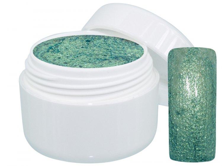 UV gel barevný Extrem Glimmer Emerald 5 ml | NEHTOVÁ MODELÁŽ - Barevné UV gely - Třpytivé barevné UV gely