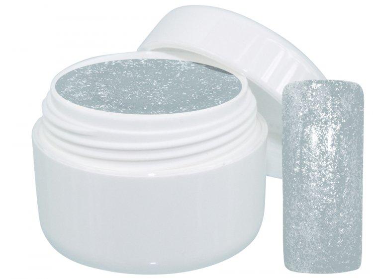 UV gel barevný Extrem Glimmer Silver 5 ml | NEHTOVÁ MODELÁŽ - Barevné UV gely - Třpytivé barevné UV gely