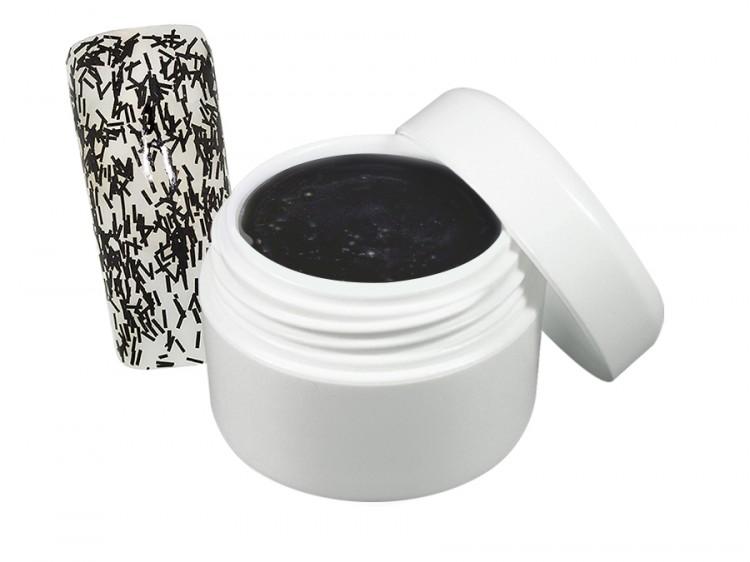 UV gel barevný flitter černý 5 ml | GLF41