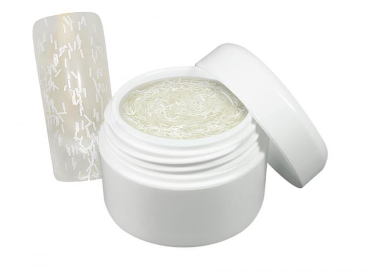 UV gel barevný flitter bílý 5 ml | Barevné UV gely - Flitrové barevné UV gely