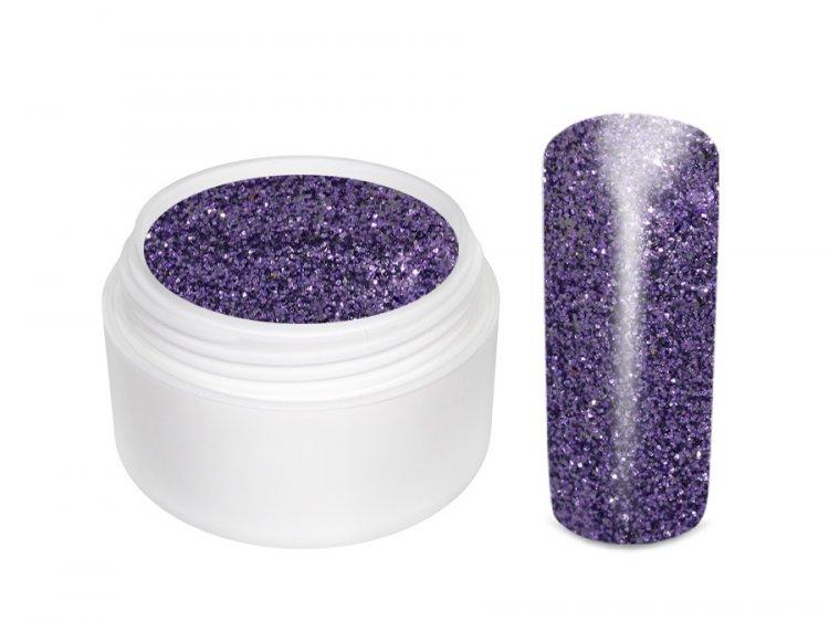 UV gel barevný glitrový Lila 5 ml | Barevné UV gely - Glitrové barevné UV gely