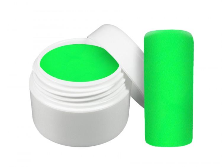 UV gel barevný neon zelený 5 ml | Barevné UV gely - Neonové a pastelové barevné UV gely