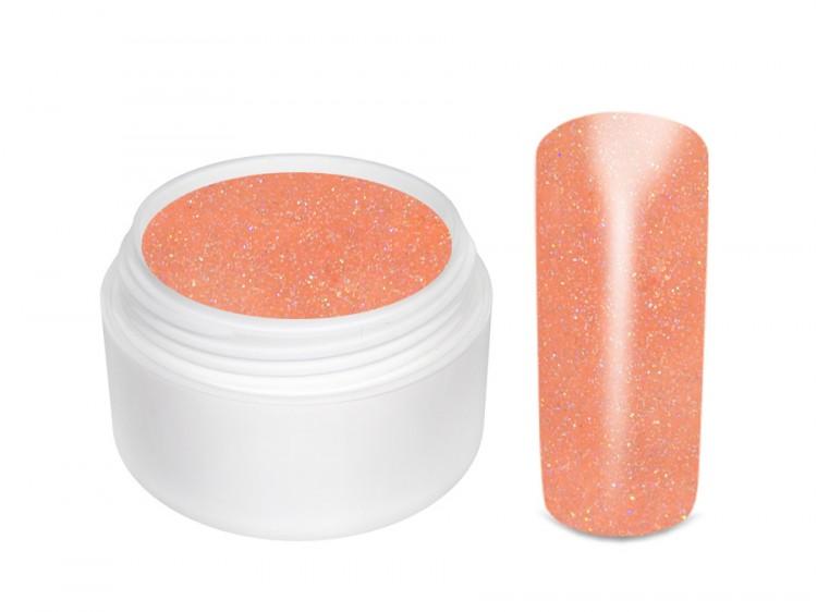 UV gel barevný glitrový Salmon 5 ml | Barevné UV gely - Glitrové barevné UV gely