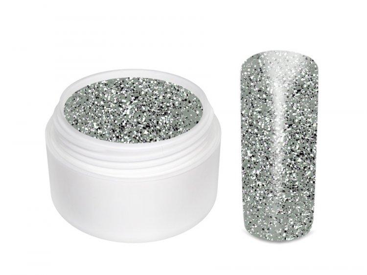 UV gel barevný Extrem Glitter Silber 5 ml | Barevné UV gely - Glitrové barevné UV gely