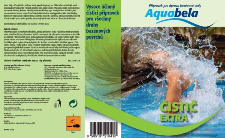 Bazénová chemie Aquabela čistič extra s houbičkou 1000 ml | Čištění okrajů a dna bazénu