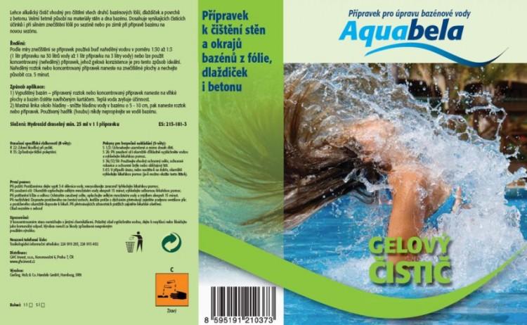 Bazénová chemie Aquabela gel čistič 1000 ml | Čištění okrajů a dna bazénu
