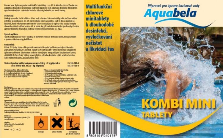 Bazénová chemie Aquabela kombi mini tablety 1000 g | Zachlorování a dezinfekce bazénové vody - Produktová řada Aquabela