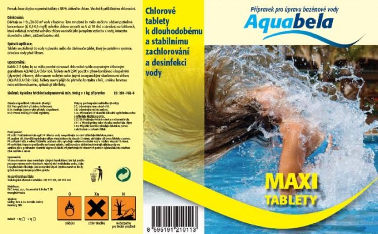 Bazénová chemie Aquabela maxi tablety 1000 g | Bazénová chemie - Zachlorování a dezinfekce bazénové vody - Produktová řada Aquabela