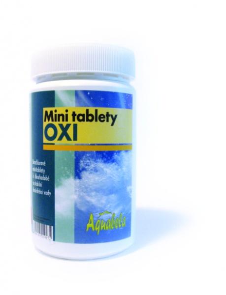 Bazénová chemie Aquabela mini tablety oxi 1000 g | OXI bezchlorová řada pro úpravu bazénové vody