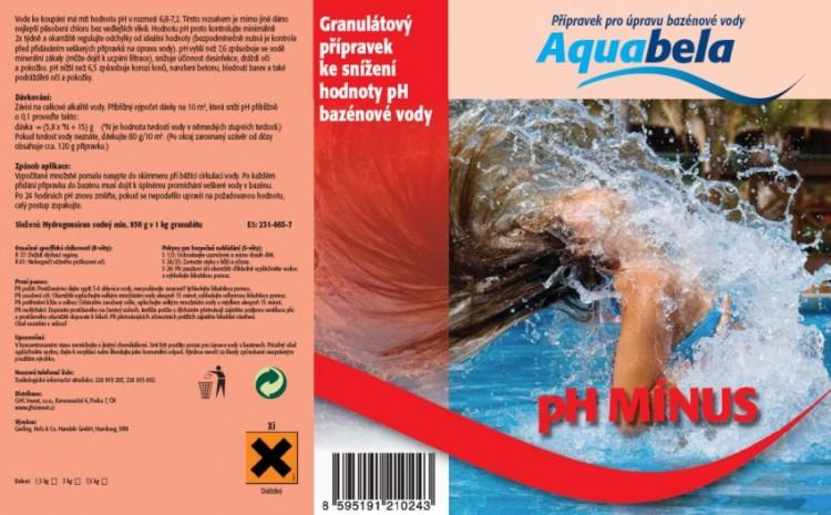 Bazénová chemie Aquabela pH minus 7500 g | Bazénová chemie - Úprava hodnoty pH - Produktová řada Aquabela