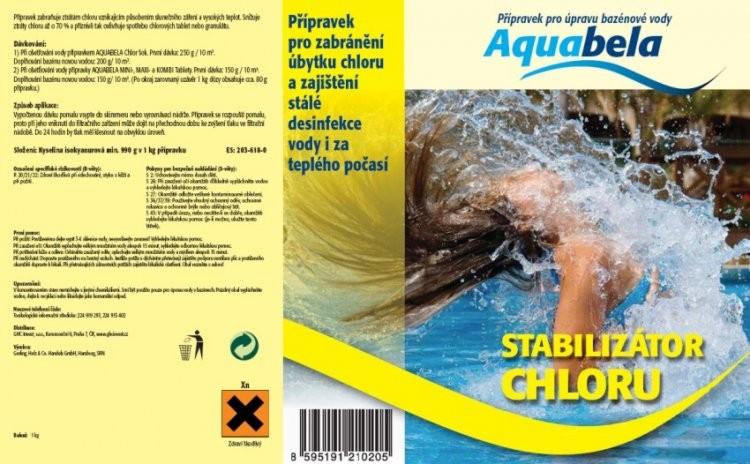 Bazénová chemie Aquabela stabilizátor chloru 1000 g | Bazénová chemie - Zachlorování a dezinfekce bazénové vody - Produktová řada Aquabela