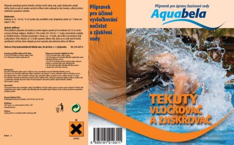 Bazénová chemie tekutý vločkovač a zjiskřovač 1000 ml | Bazénová chemie - Vyvločkování nečistot a odstranění řas