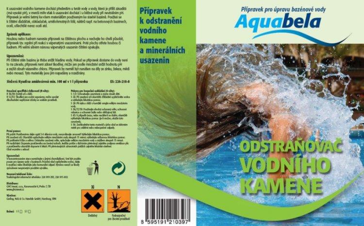 Bazénová chemie Aquabela odstraňovač vodního kamene 1000 ml | Bazénová chemie - Ostatní úprava bazénové vody