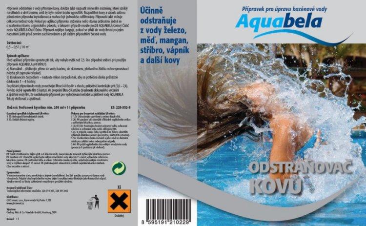 Bazénová chemie Aquabela odstraňovač kovů 1000 ml   Bazénová chemie - Ostatní úprava bazénové vody