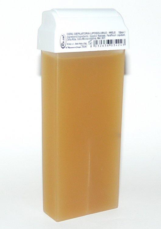 Roial Depilační vosk přírodní s hlavicí na tělo 100 ml  | NEHTOVÁ MODELÁŽ - Přípravky na depilaci - Depilační vosky