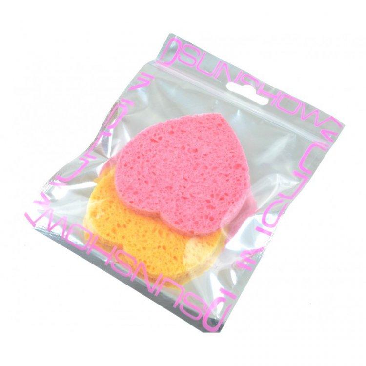 Houbička na makeup srdce 2 ks    | NEHTOVÁ MODELÁŽ - Kosmetika WZ cosmetic - Kosmetické pomůcky
