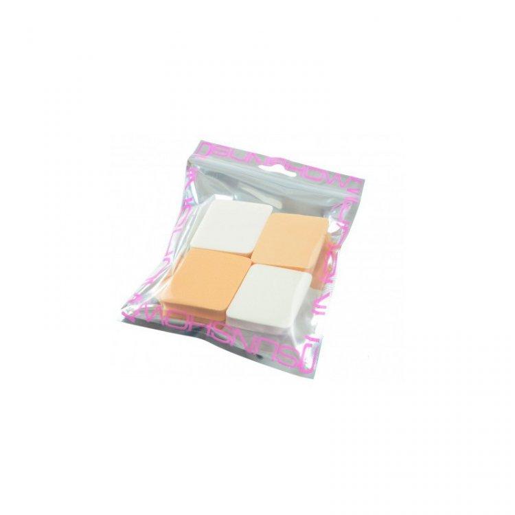 Houbička na makeup kosočtverec 4 ks    | NEHTOVÁ MODELÁŽ - Kosmetika WZ cosmetic - Kosmetické pomůcky