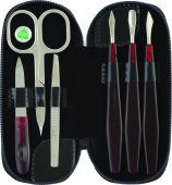 Manikúrní set 6-ti dílná barva černá | Kleště a nůžky na nehty a kůži pro manikúru a pedikúru, pinzety, pilníky, atd. - Manikúrní sety, štípátka-klipy