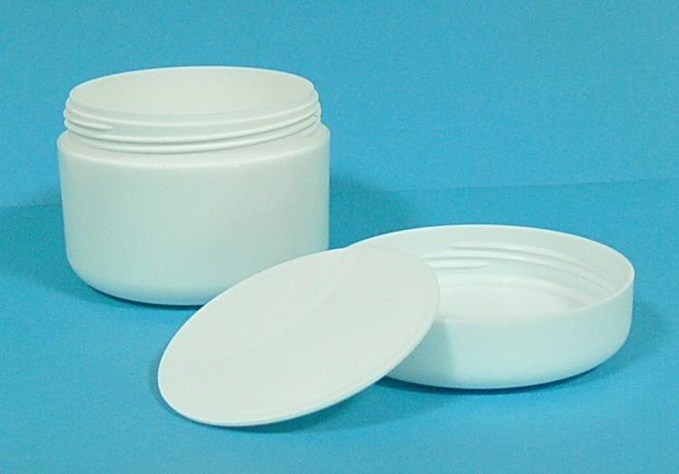 Dóza kosmetická 100 ml bílá dvouplášťová vč. těsnící plastové vložky a víčka | NEHTOVÁ MODELÁŽ - Obalový materiál