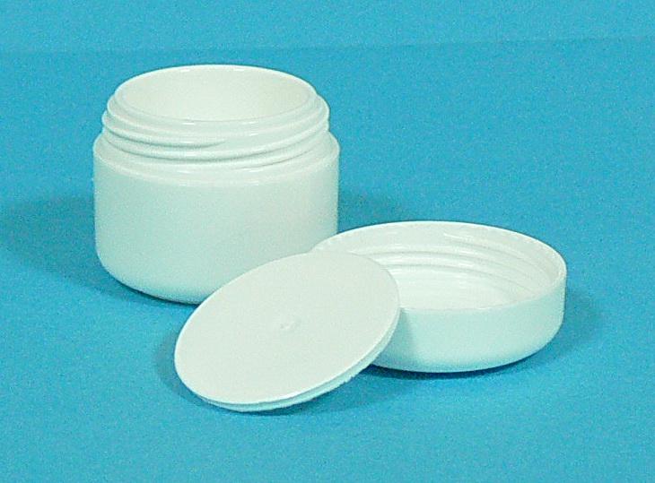 Dóza kosmetická 5 ml bílá dvouplášťová vč. těsnící plastové vložky a víčka | NEHTOVÁ MODELÁŽ - Obalový materiál