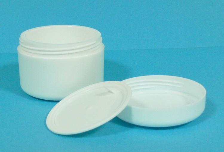 Dóza kosmetická 50 ml bílá dvouplášťová vč. těsnící plastové vložky a víčka | NEHTOVÁ MODELÁŽ - Obalový materiál