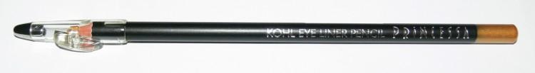 Princessa KOHL PENCIL tužka linkovací dřevěná s ořezávátkem zlatá | Dekorativní kosmetika - Tužky linkovací