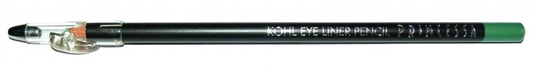 Princessa KOHL PENCIL tužka linkovací dřevěná s ořezávátkem jasně zelená | NEHTOVÁ MODELÁŽ - Dekorativní kosmetika - Tužky linkovací