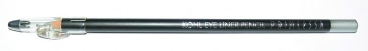 Princessa KOHL PENCIL tužka linkovací dřevěná s ořezávátkem střibrná | NEHTOVÁ MODELÁŽ - Dekorativní kosmetika - Tužky linkovací