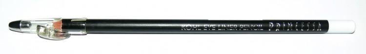 Princessa KOHL PENCIL tužka linkovací dřevěná s ořezávátkem bílá | NEHTOVÁ MODELÁŽ - Dekorativní kosmetika - Tužky linkovací