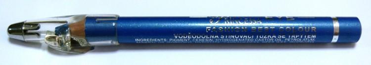 Princessa EYE SHADOW PENCIL tužka stínovací voděodolná s ořezávátkem ledově modrá s glitrem | NEHTOVÁ MODELÁŽ - Dekorativní kosmetika - Tužky stínovací