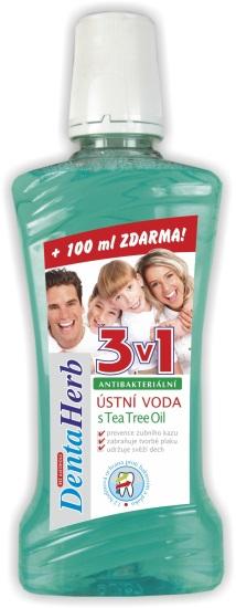 Denta Herb Ústní voda Fresh Mint & Tea Tree 400 ml | NEHTOVÁ MODELÁŽ - Péče o pleť a tělo Vivaco - Ostatní péče