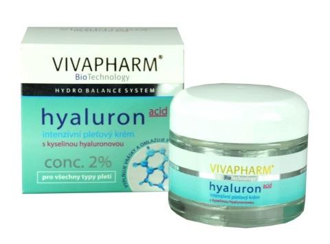 Vivaco VIivapharm Intenzivní pleťový krém s kyselinou hyaluronovou 50 ml | Péče o pleť a tělo Vivaco - Pleťové krémy