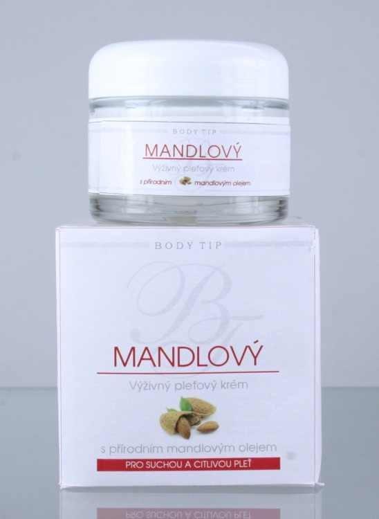 Body Tip Mandlový výživný krém 50 ml | NEHTOVÁ MODELÁŽ - Péče o pleť a tělo Vivaco - Pleťové krémy